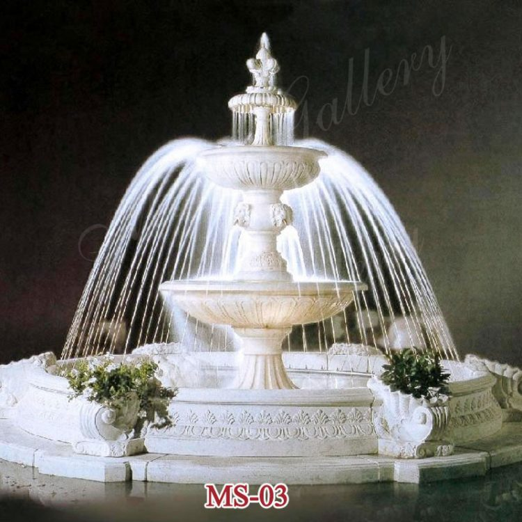 2019 Popular Outdoor 3 Tiers Modern Large Marble fountains for Sale