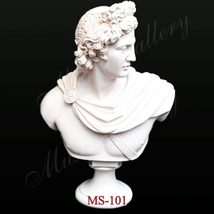 Famous Greek Marble Apollo Belvedere Bust Replica for Home Decor for Sale MS-101