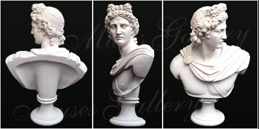 Famous Greek Marble Apollo Belvedere Bust Replica for Sale