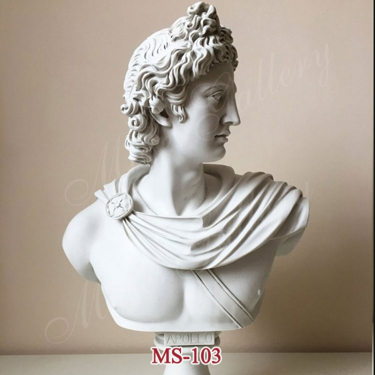 Famous Life Size Greek God Marble Apollo Belvedere Bust for Sale MS-103