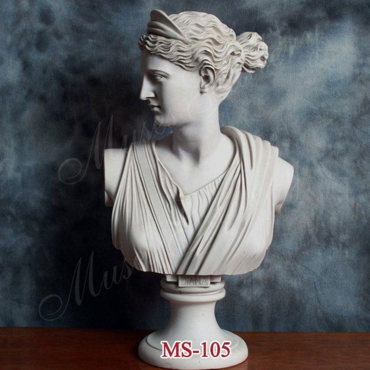 Famous Marble Artemis Diana Bust Greek Godness Statue Replica for Office Decor for Sale MS-105