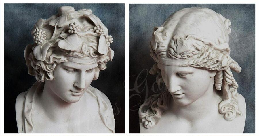 Greek marble statue of dionysus companions bust for desk decor for sale MS-107