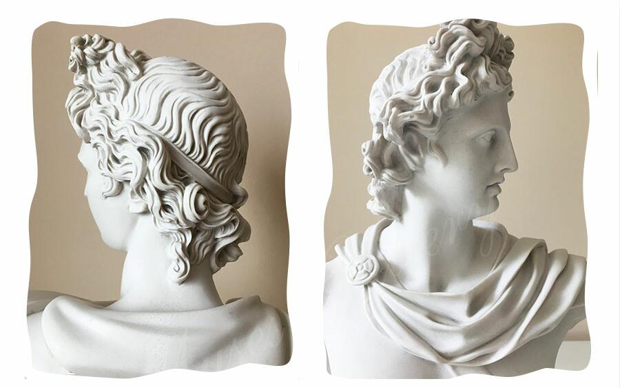 Life Size Famous Greek God Marble Apollo Belvedere Bust for Sale MS-103