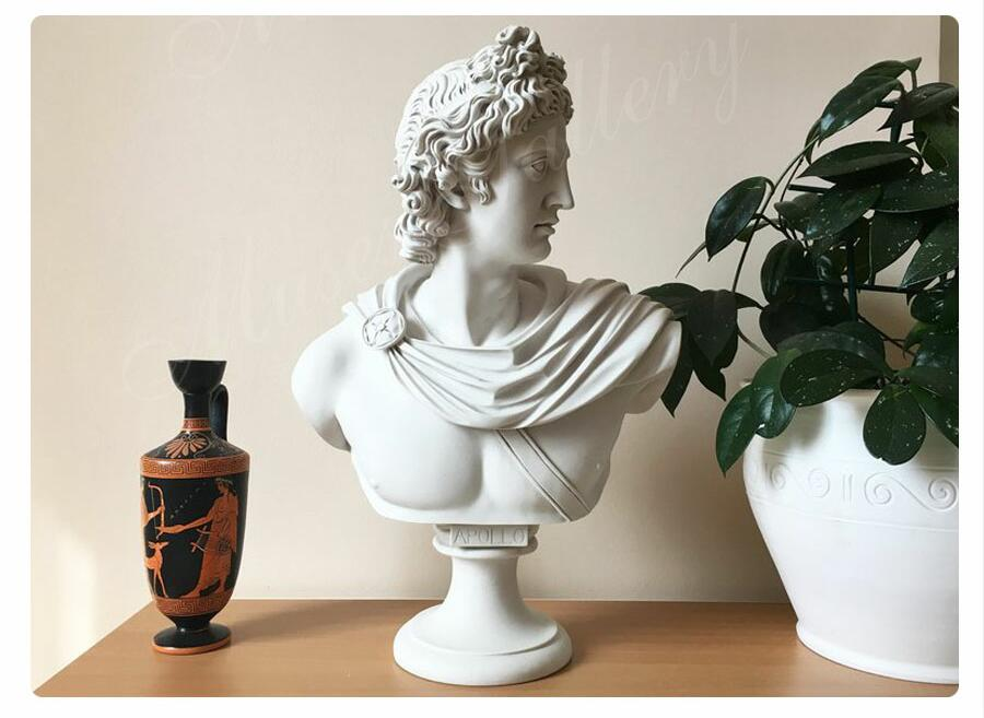 Life Size Famous Greek God Marble Apollo Belvedere Bust for Sale for Home Decor