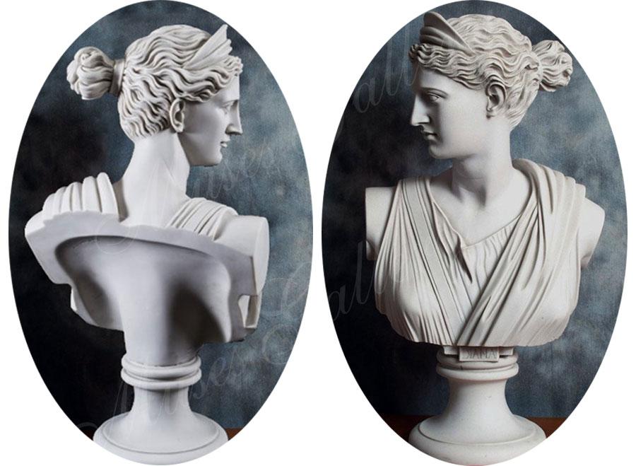 Marble Artemis Diana Bust Greek Godness Statue Replica for Sale