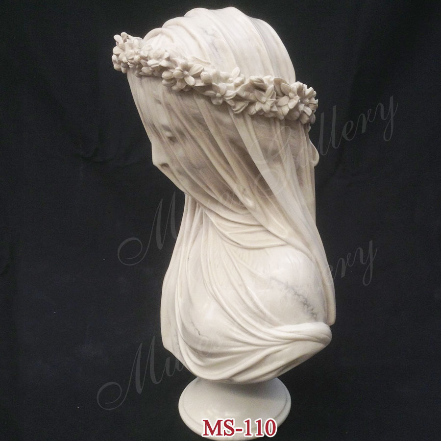 Home Decor For Sale: Famous Life Size Veiled Lady Bust Statue Replica Virgin