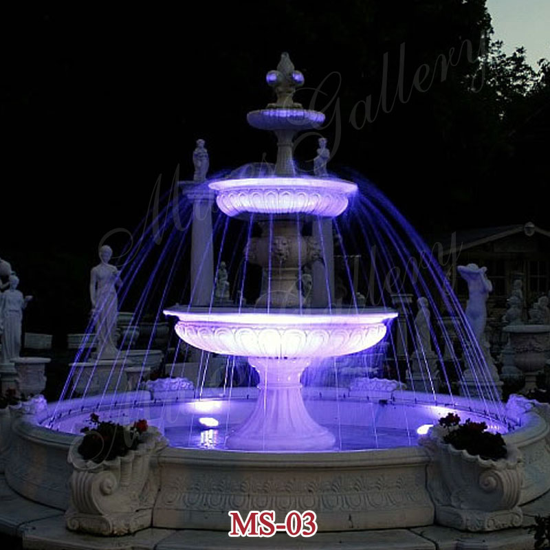 Outdoor 3 Tiers Modern Large Marble fountains for Sale