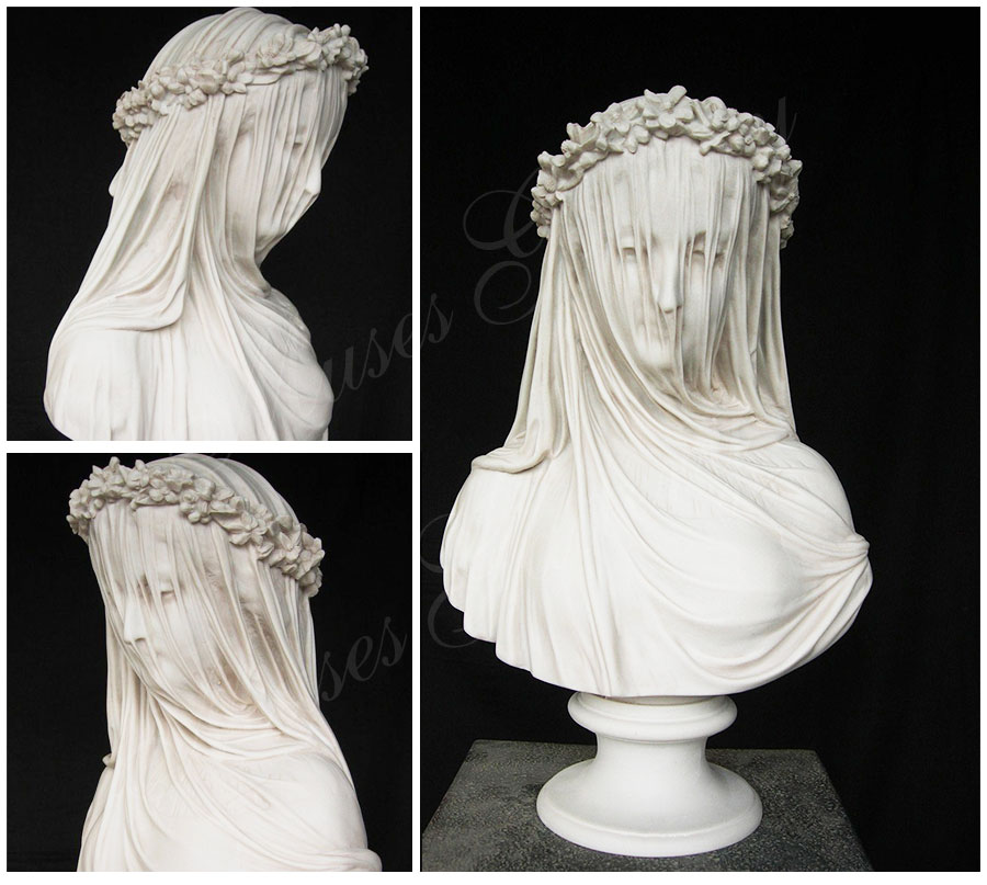 famous veiled lady bust replica virgin mary for home decor for sale MS-110