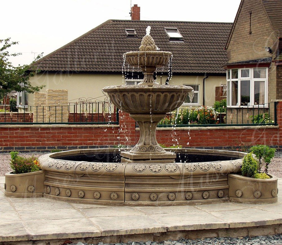 large-2-tier-granite-water-fountain-for-sale
