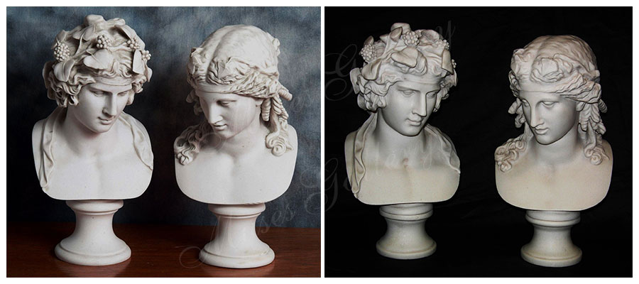 marble statue of dionysus companions bust for desk decor for sale MS-107