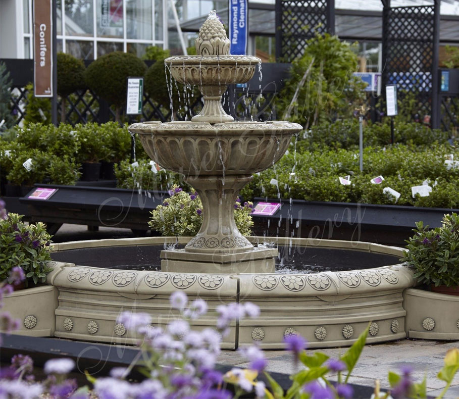outdoor-2-tier-antique-granite-fountain-design