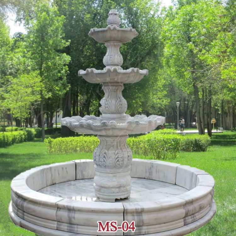Outdoor Modern 3 Tiers Water Fountain Stone Water Feasure for Sale