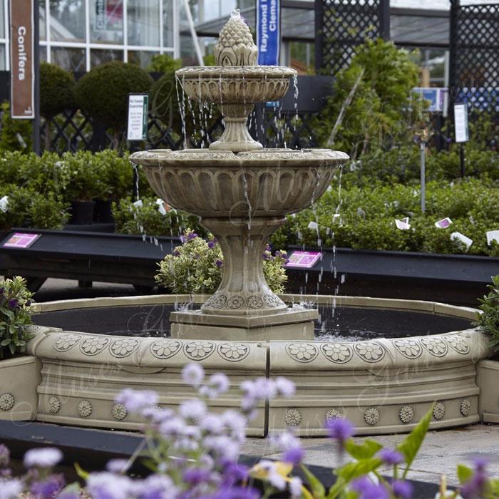 2 Tier Large Antique Granite Circular Fountain Water ...