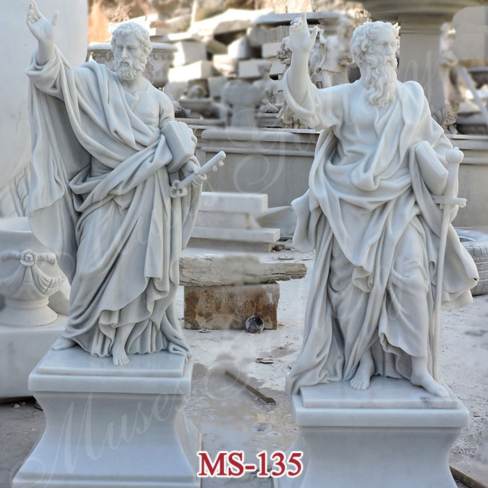 Famous 12 Saint Apostles St Peter Statue And St Paul Sculpture for Church