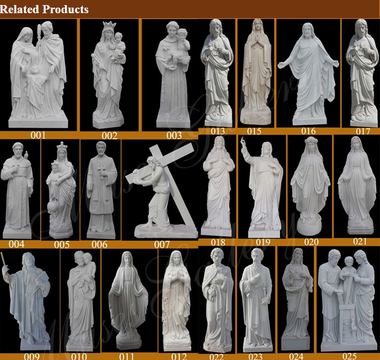 Saint marble catholic sculptures for sale church