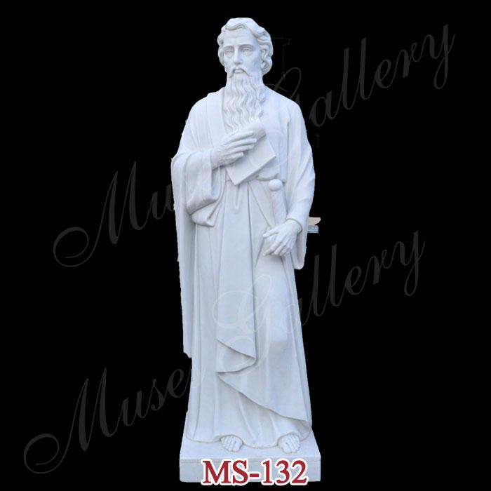 Catholic Marble 12 Apostles St. Paul Statue Saint Paul Sculpture for Sale