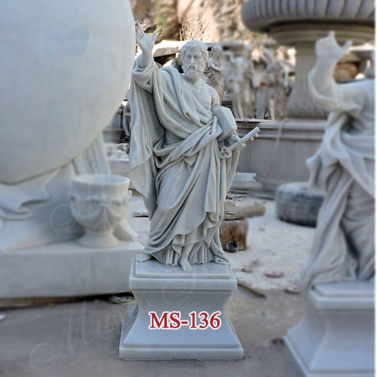 White Marble Apostles St Peter Statue Catholic Religious Sculpture Church Supply Warehouse
