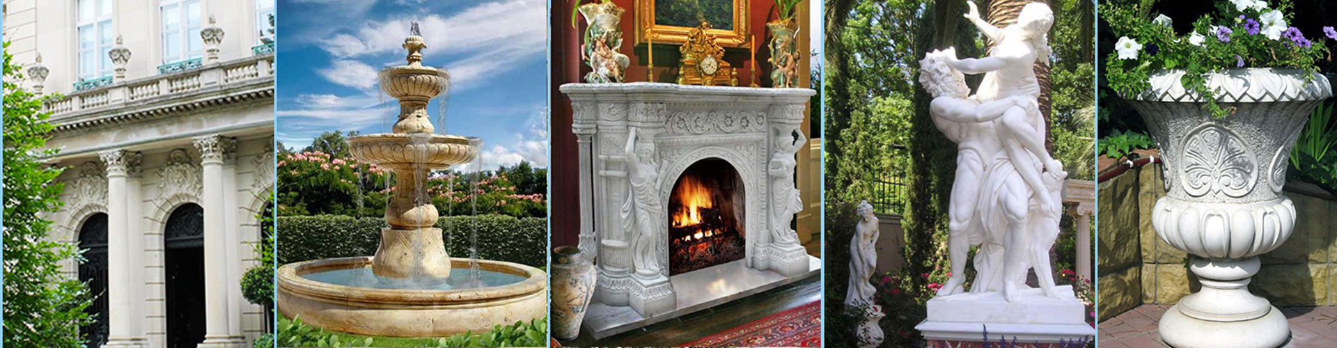 Muses gallery marble fireplace for sale