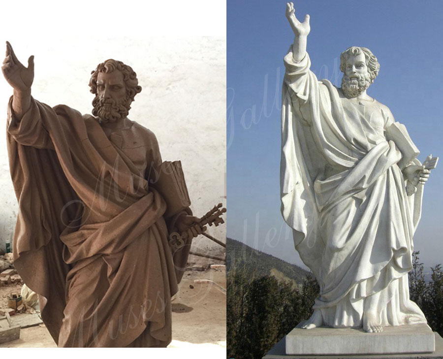 marble Saint Peter statue designs for church