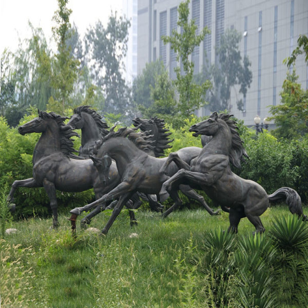Bronze Running Horse Sculpture for Outdoor Decoration-M-106