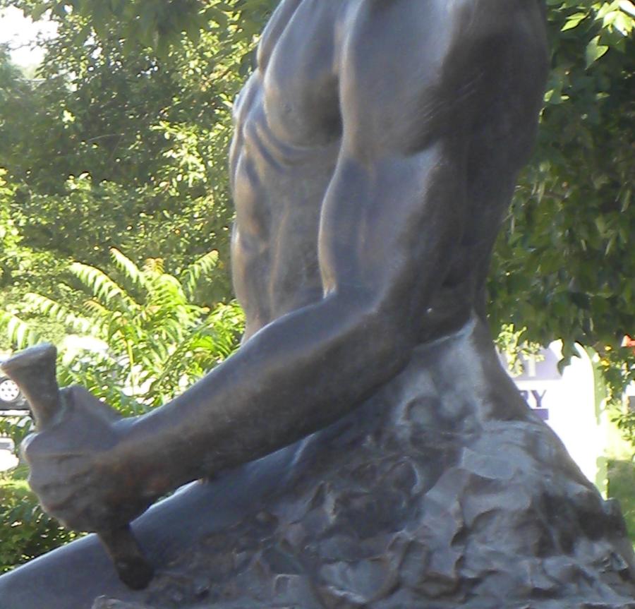 Custom Made Self Made Man Statue Bronze Sculpture Replica for Sale