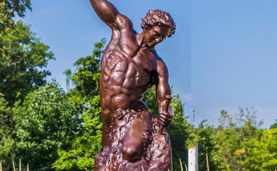 Life Size Self Made Man Statue Famous Bronze Sculpture