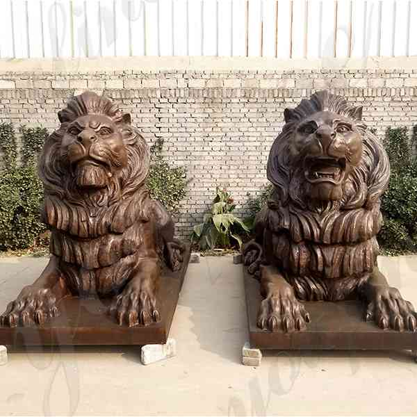 Hot Sale Life Size Bronze Lion Statue for Outdoor Decoration M-202