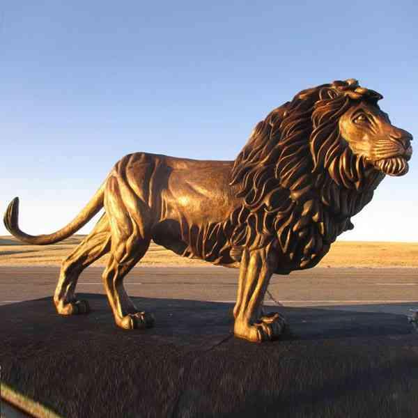 Life size decorative antique bronze lion statue for sale M-204