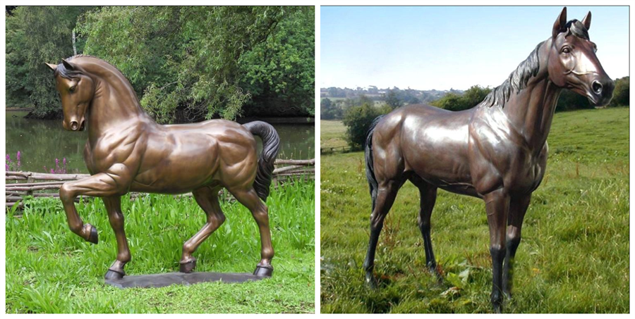 casting bronze standing horse statue for sale