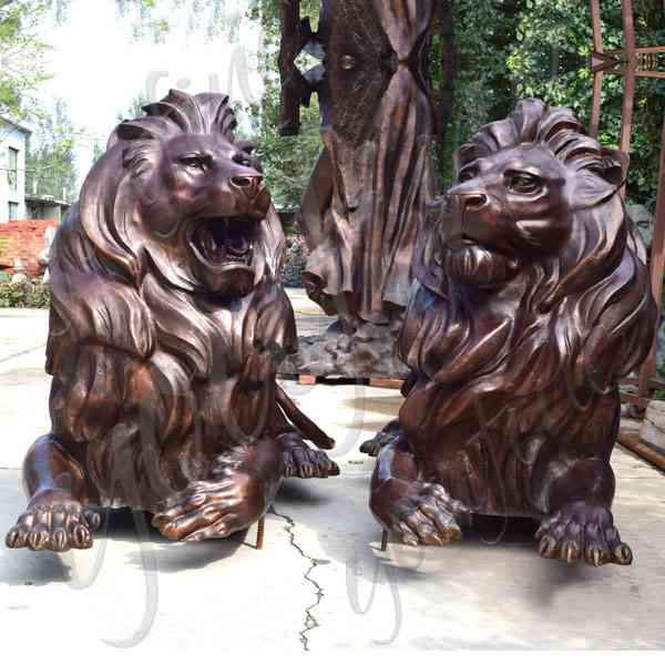 Popular Design Life Size bronze lion statues for decoration for sale M-206