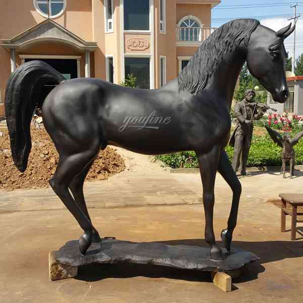 Decorative Antique Bronze Horse Statues for Outdoor in Garden-M-108