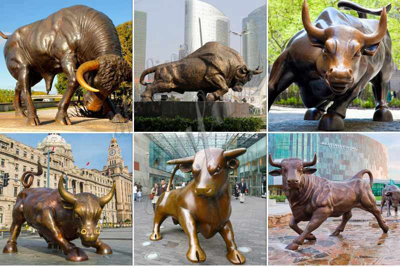 Bronze Bull Statue Wall Street