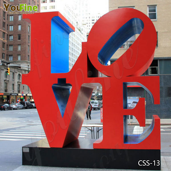 Contemporary Outdoor Stainless Steel Love Sculptures for Sale CSS-13