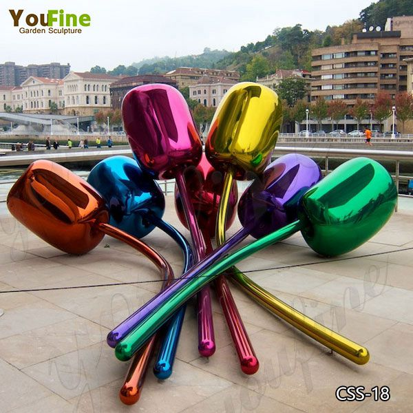 Famous Jeff Koons Stainless Steel Tulip sculpture Replica for Sale CSS-18