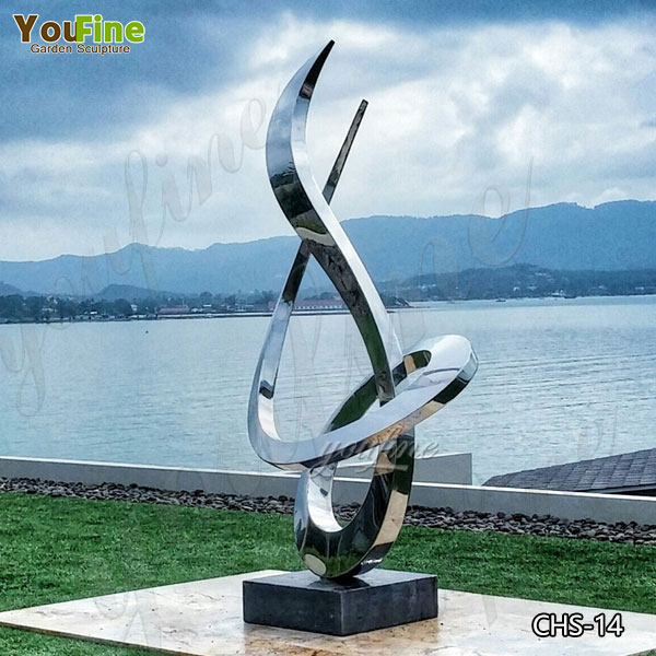 Popular Beautiful Outdoor Stainless Steel Abstract Sculpture for Sale CSS-14