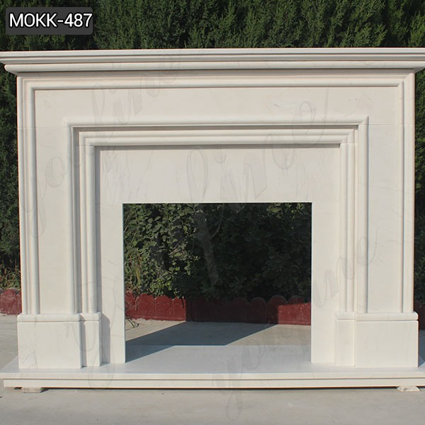 Simple Modern Stone Design White Outdoor Stone Fireplace for Sale MOKK-487