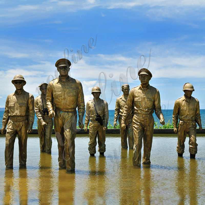 Bronze MacArthur Landing Memorial Statue Replica