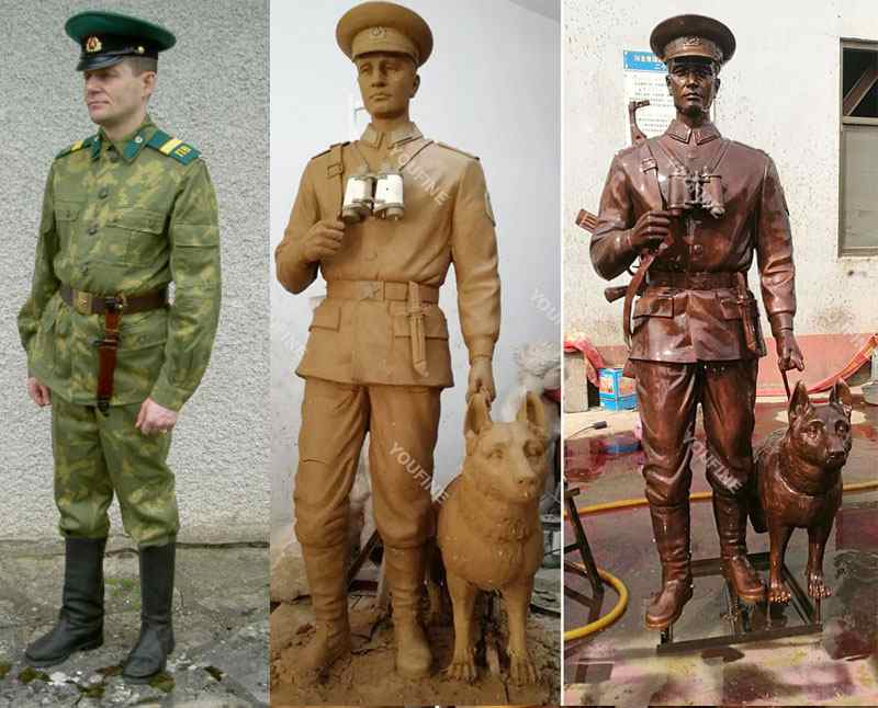 Bronze Solider Statues