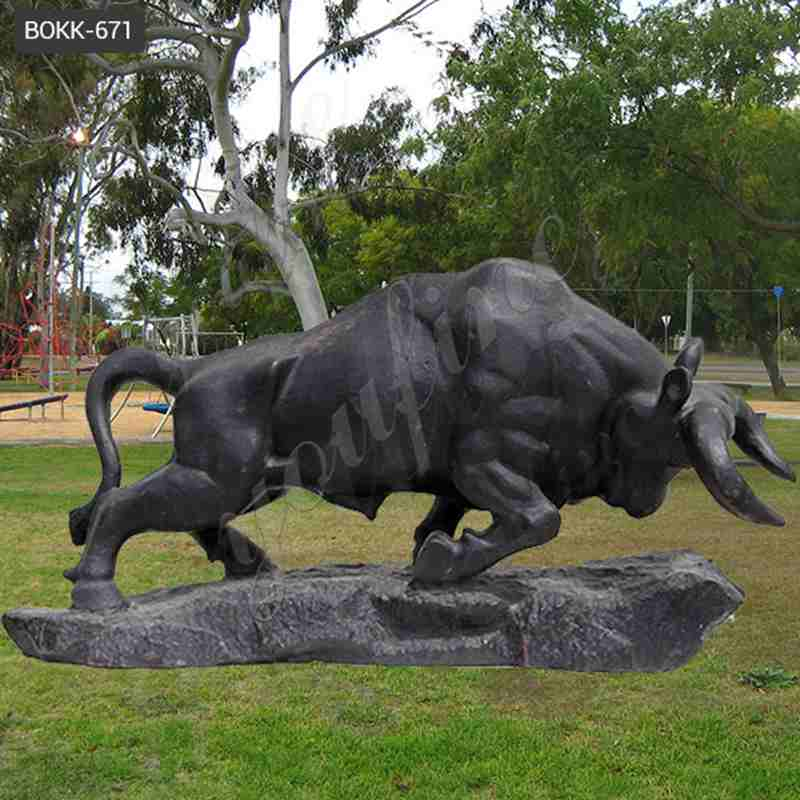 Casting Bronze Outdoor Bull Statue