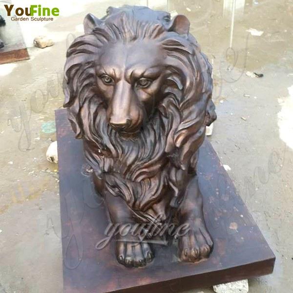 Large Bronze Casting Lion Statue for Garden Decoration Supplier BOKK-491