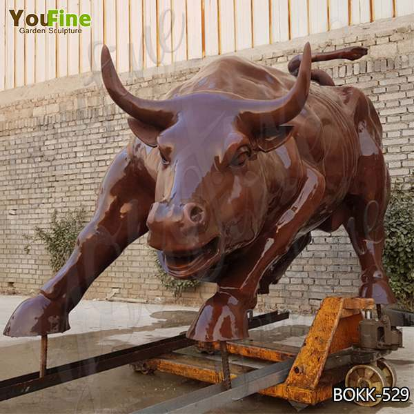 Custom Large Size Outdoor Casting Bronze Bull Statue for Garden Decoration Online BOKK-529