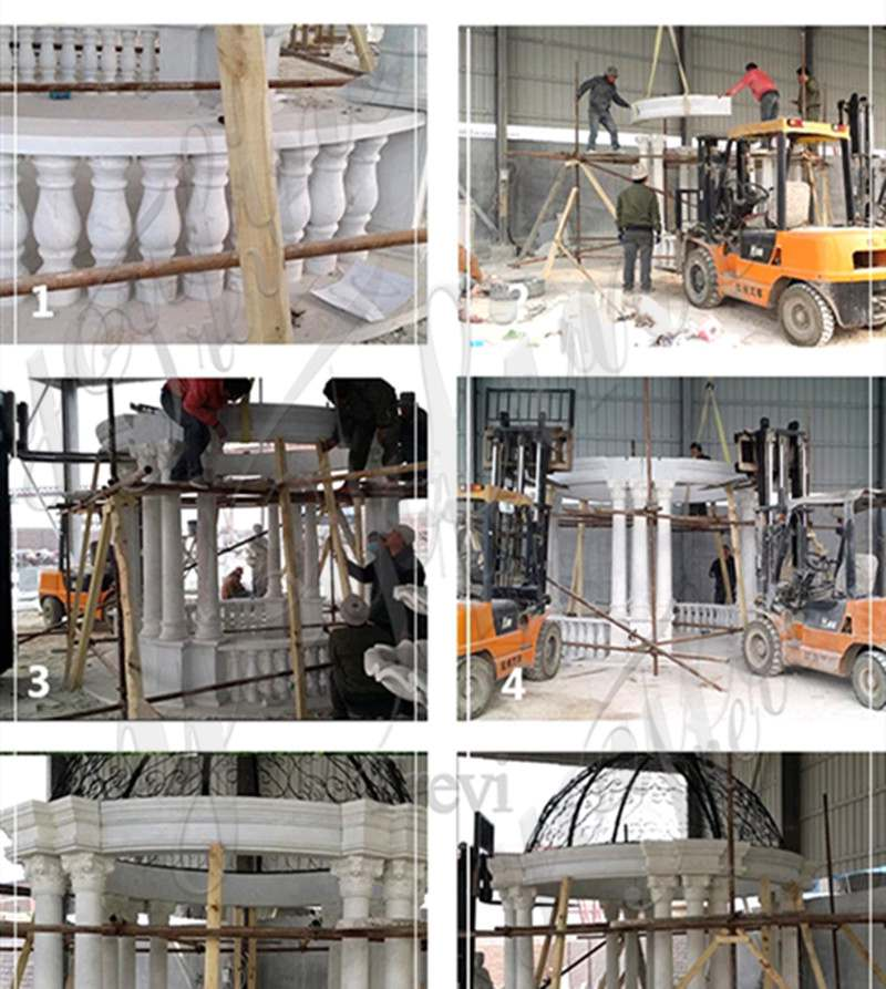 Decoration White Marble Gazebo Supplier MOKK-35 - 副本