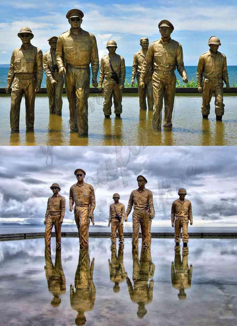 Famous Bronze MacArthur Landing Memorial Statue