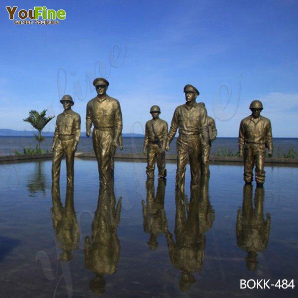 Famous Custom Bronze MacArthur Landing Memorial Statue Replica Manufacturer BOKK-484