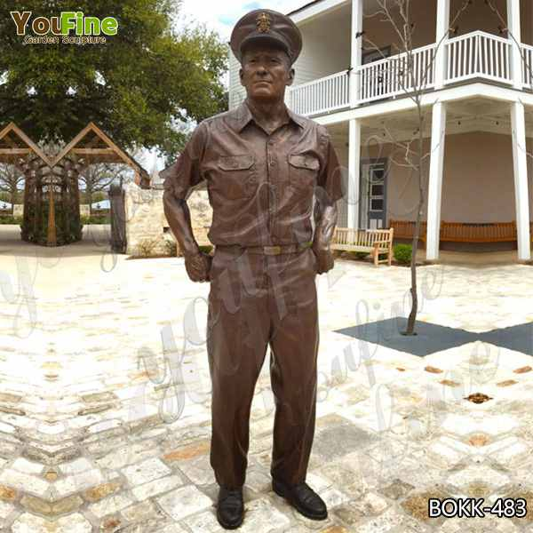 Famous Life Size American Navy Bronze Soldier Statue for Commemoration Supplier BOKK-483