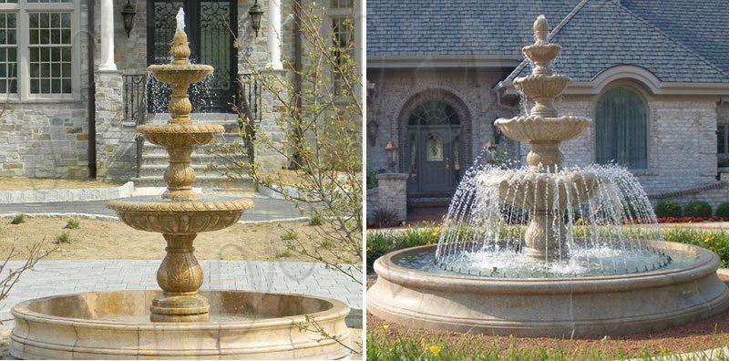 Greek Statue Hand Carved Stone Garden Water Fountain