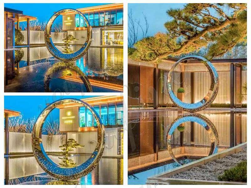 Handmade Modern Stainless Steel Ring Sculpture
