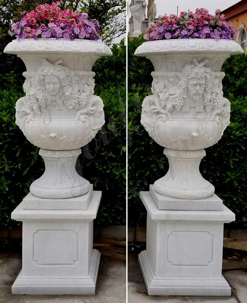 High Quality White Marble Planters with Figure