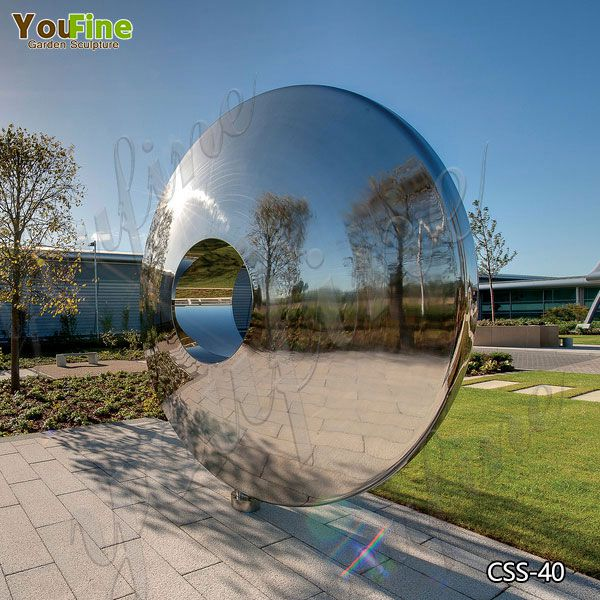Large Outdoor Mirror Polished Stainless Steel Sculptures for Sale CSS-40