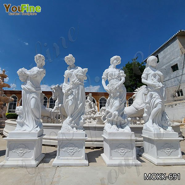 Life Size Natural White Marble Four Seasons Statues for Sale MOKK-691